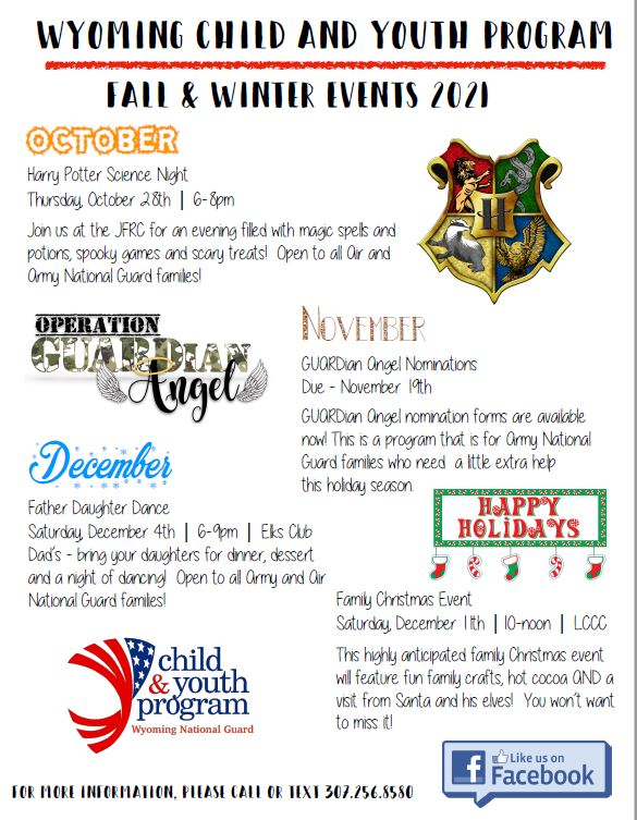 CHILD and YOUTH FALL ACTIVITIES 2021